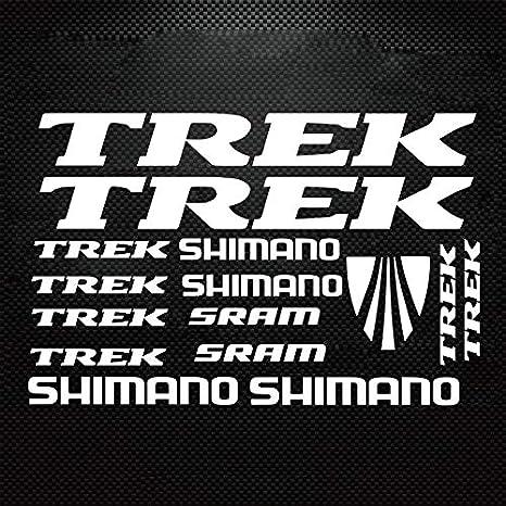 TREK stickers vinyl decals graphics for frame bicycle set emblem new white black