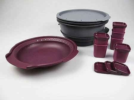 Tupperware I101 Micro gourmet de vapor microondas gris + de colour ...