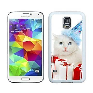 Carcasa personalizada Navidad gato blanco funda Samsung ...