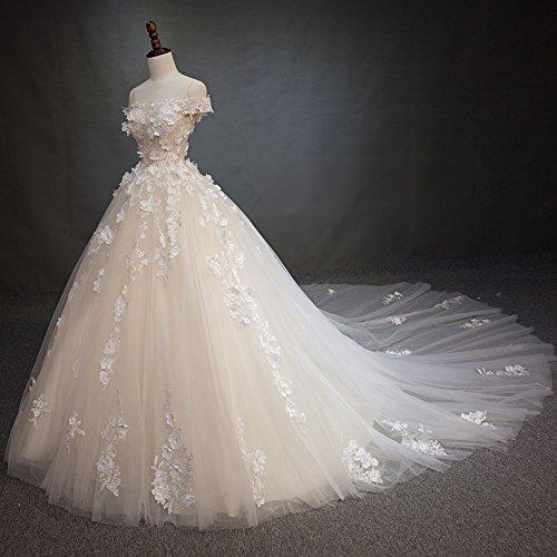Sposa Che da la Trascina il Cerimonia Del Della Nuziale L Bianca da Cerimonia Vestito DIDIDD Vestito Parola Nuziale twUIwf