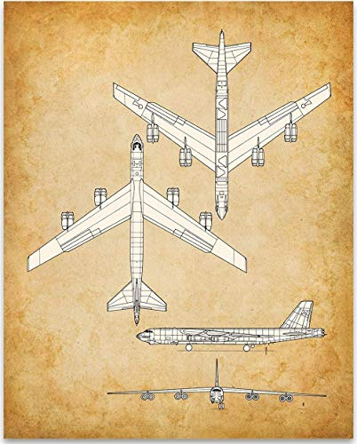 (Boeing B-52 Aircraft - 11x14 Unframed Patent Print - Great Gift Under $15 for Aviation Geeks )