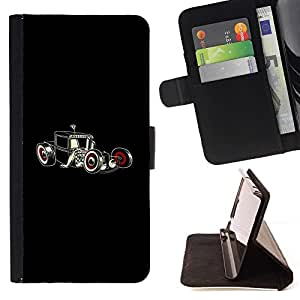 For Samsung Galaxy S4 Mini i9190 Cool Hot Rod Art Beautiful Print Wallet Leather Case Cover With Credit Card Slots And Stand Function