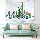 Sunmner Cactus Tapestry Wall Hanging Living Room Bedroom Dorm Home Decor (59.1''X82.7'', SG125)