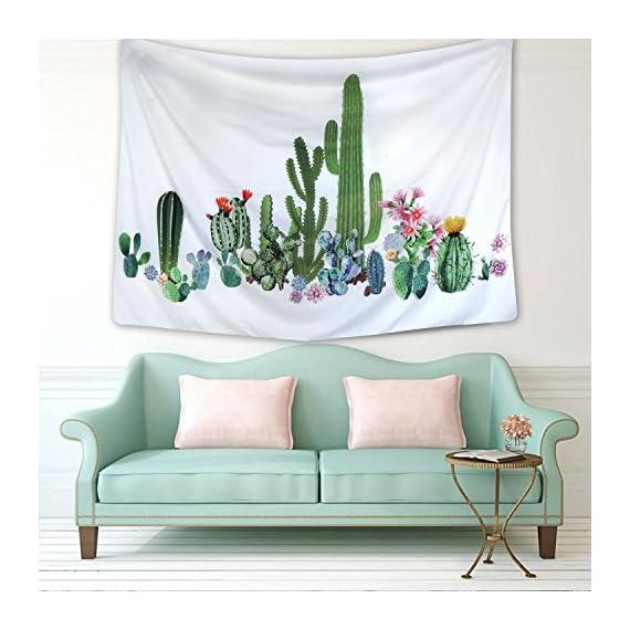 "Sunmner Cactus Tapestry Wall Hanging for Living Room Bedroom Dorm Home Decor (51.2""X59.1"", SG125) -  - living-room-decor, living-room, home-decor - 51rl0ov4PjL. SS570  -"