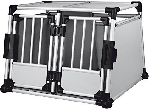 HOT SALE! Double Door Scratch-resistant Small/ Medium Metallic Crate by Polarbear's Pet Shop