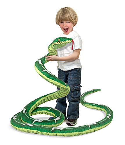 Melissa & Doug Giant Boa Constrictor - Lifelike Stuffed Animal Snake (over 14 feet (Snake Plush Toy)