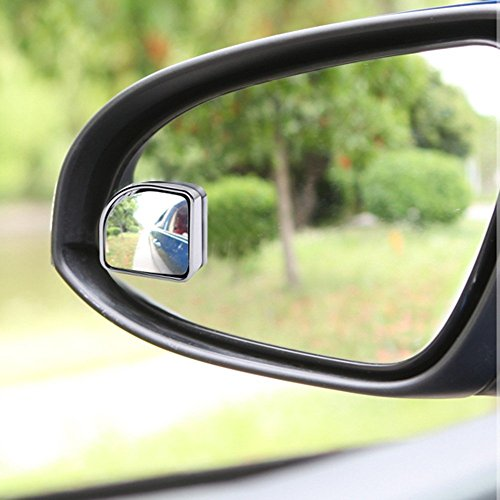 """Blind Spot Mirror 1.97"""" Fan Shape, Convex, Universal for all Cars, Trucks & Motorcycles [Chrome]"""