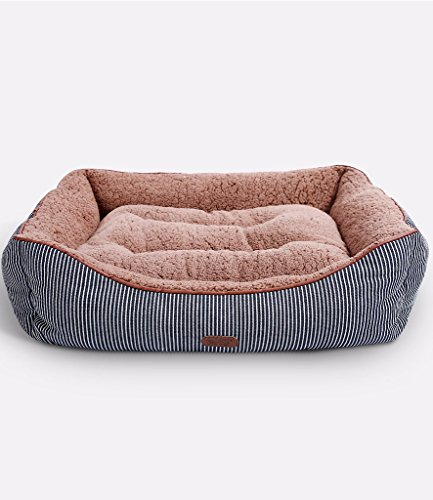 Smiling Paws Pets Washable Premium Dog and Cat Bed/Lounge With Soft Sides - Organic Cotton - A Puppy and Kitty DREAM BED | 25