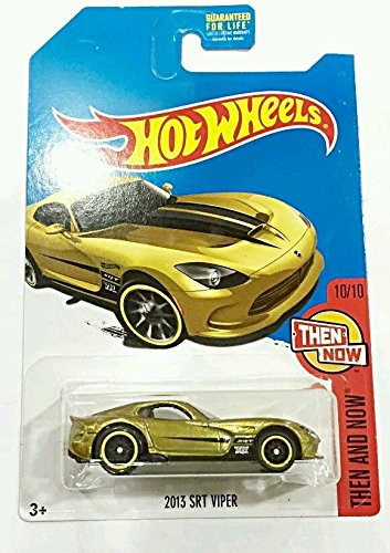 Amazon Hot Wheels 2017 Then And Now 2013 Srt Viper Gold Super