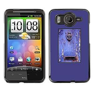 Cubierta de la caja de protección la piel dura para el HTC DESIRE HD / G10 - purple rustic door mailbox paint peeling