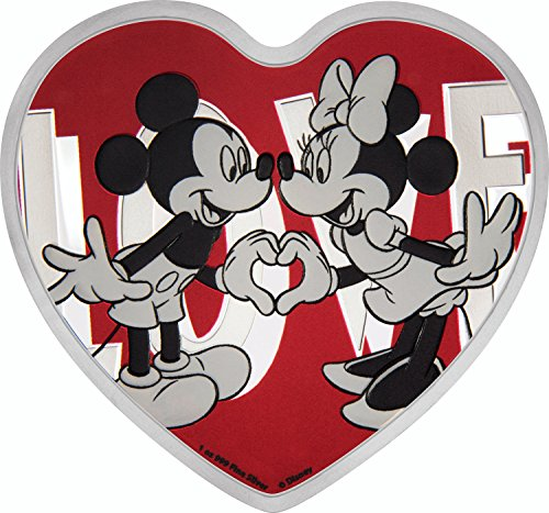 2018 NU Disney-With Love 1 oz Proof Silver Coin $2 Perfect (Pure Silver Proof Coin)