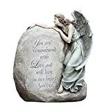 Napco Forever in Our Hearts Memorial Angel Garden Statue, 11""
