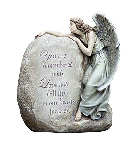 NapCo Forever in Our Hearts Memorial Angel Garden Statue, 11