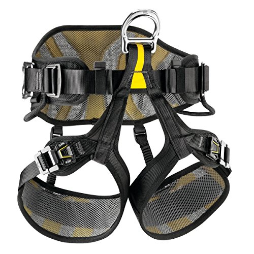 (Petzl AVAO Sit Fast Harness Black/Yellow Size)