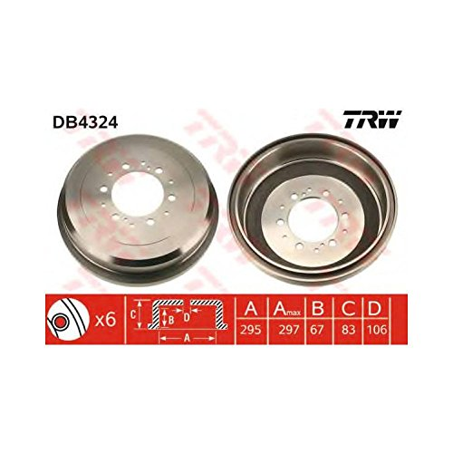 TRW DB4324 Brake Drums: