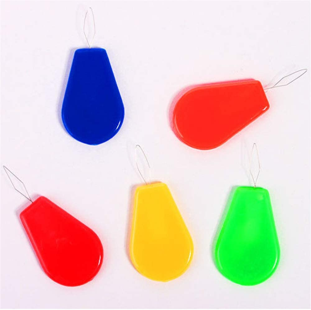 Potelin 10PCS Plastic Stitch Insert Device Sewing Machine Needle Threader Sewing Tool for All Sewers Random Color