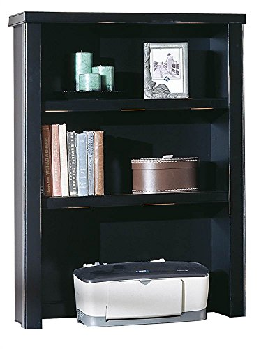 kathy ireland Home by Martin Tribeca Loft Black Open Hutch - Fully Assembled by Martin Furniture