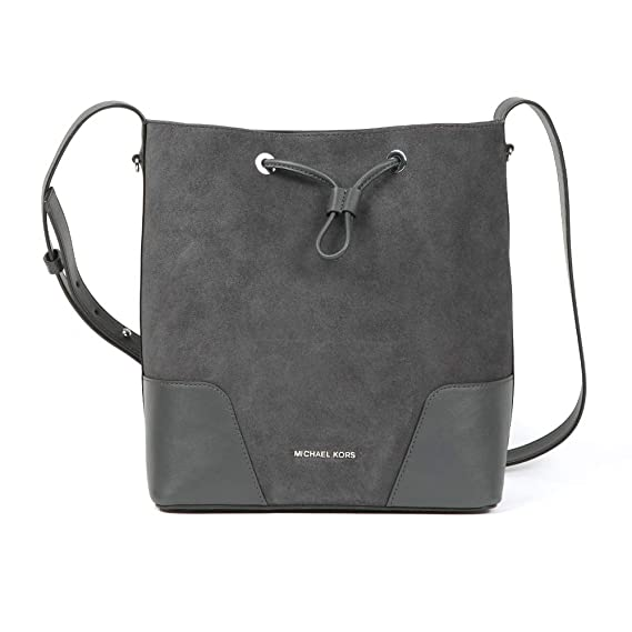 8079f139c59a37 Michael Kors - Cary Mid Bucket Bag, Charcoal, OS: Amazon.co.uk: Clothing
