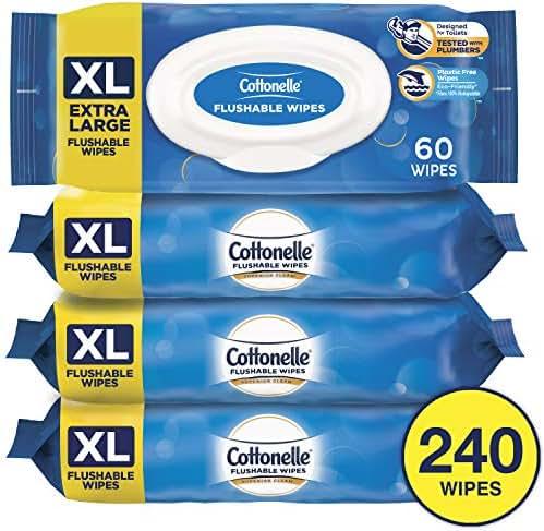 Flushable Wipes: Cottonelle XL Flushable Wipes