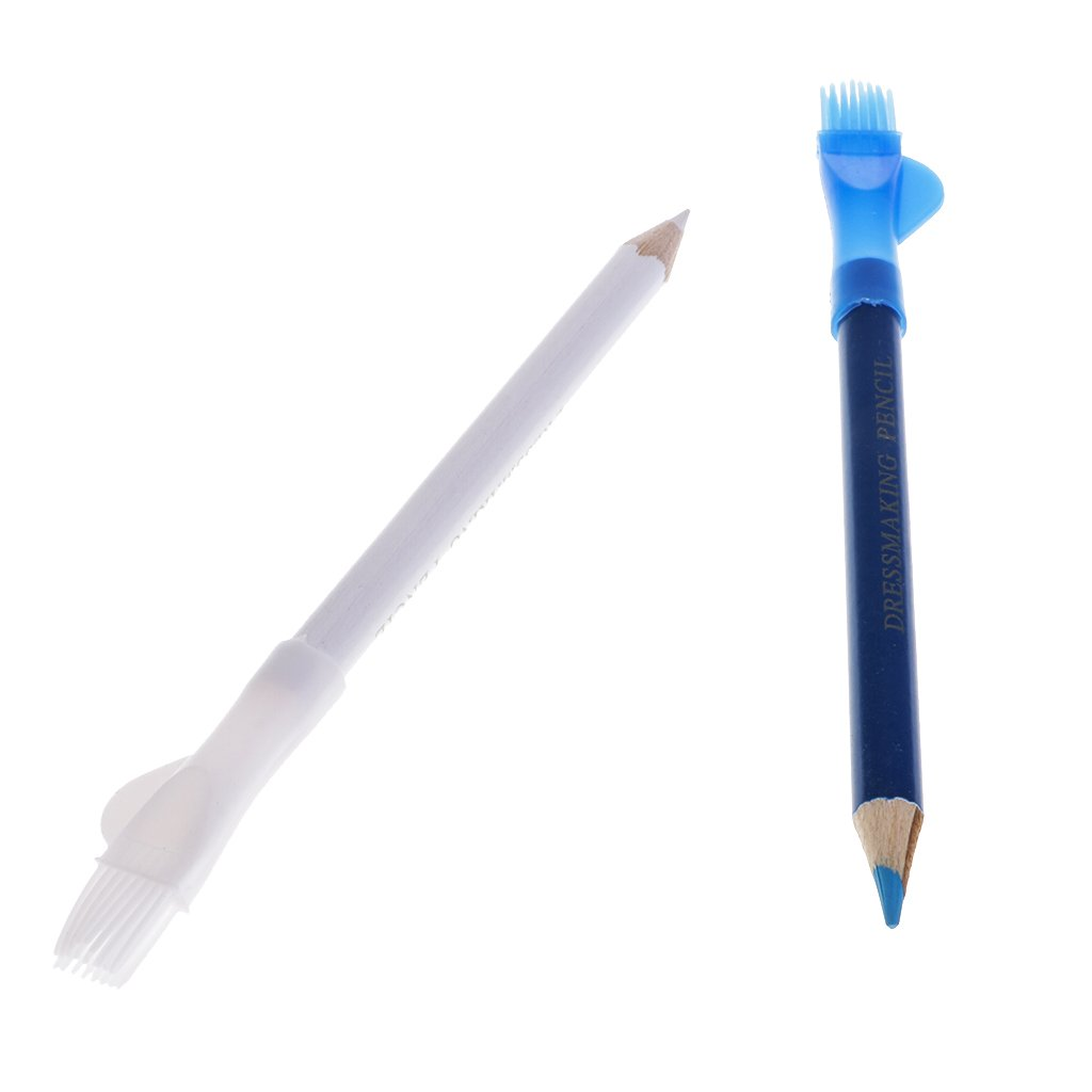Prettyia 100Pcs Blue and White Color Tailor Chalk Pencil for Sewing Dressmaking 4.72 inch by Prettyia