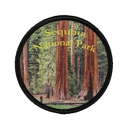 Sequoia National Park Patch Travel Badge California Embroidered IronOn Applique - Embroidered Parka