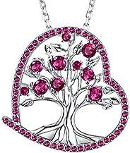Dorella Unicorn Necklace for Her Birthday Gifts October November December Birthstone Jewelry Pink Tourmaline C