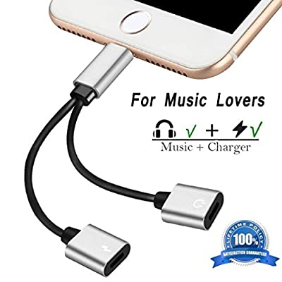 Lightning Jack Adapter iPhone 7/7Plus/8/8Plus/X/10.Lightning Audio Headphone + Charge Cable. AUX Earphone Adapter Connection Cable
