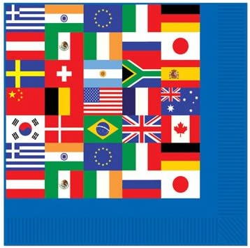 Plus Party Planning Checklist by Mikes Super Store International World Flags Party Supplies Bundle Pack for 16