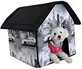 1 Set Best Popular Indoor Pet House Soft and Warm Fabric Cat Furniture Collapsible Couch Style New York