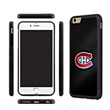 CHICEXP Fitted iPhone 6/6s Case Shell Montreal Canadiens Team style- with Tempered Glass Screen Film