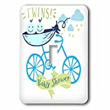 3dRose RinaPiro - Kids - Twins. Boys. Baby shower. Announcement. Cute picture. - Light Switch Covers - single toggle switch (lsp_261339_1)