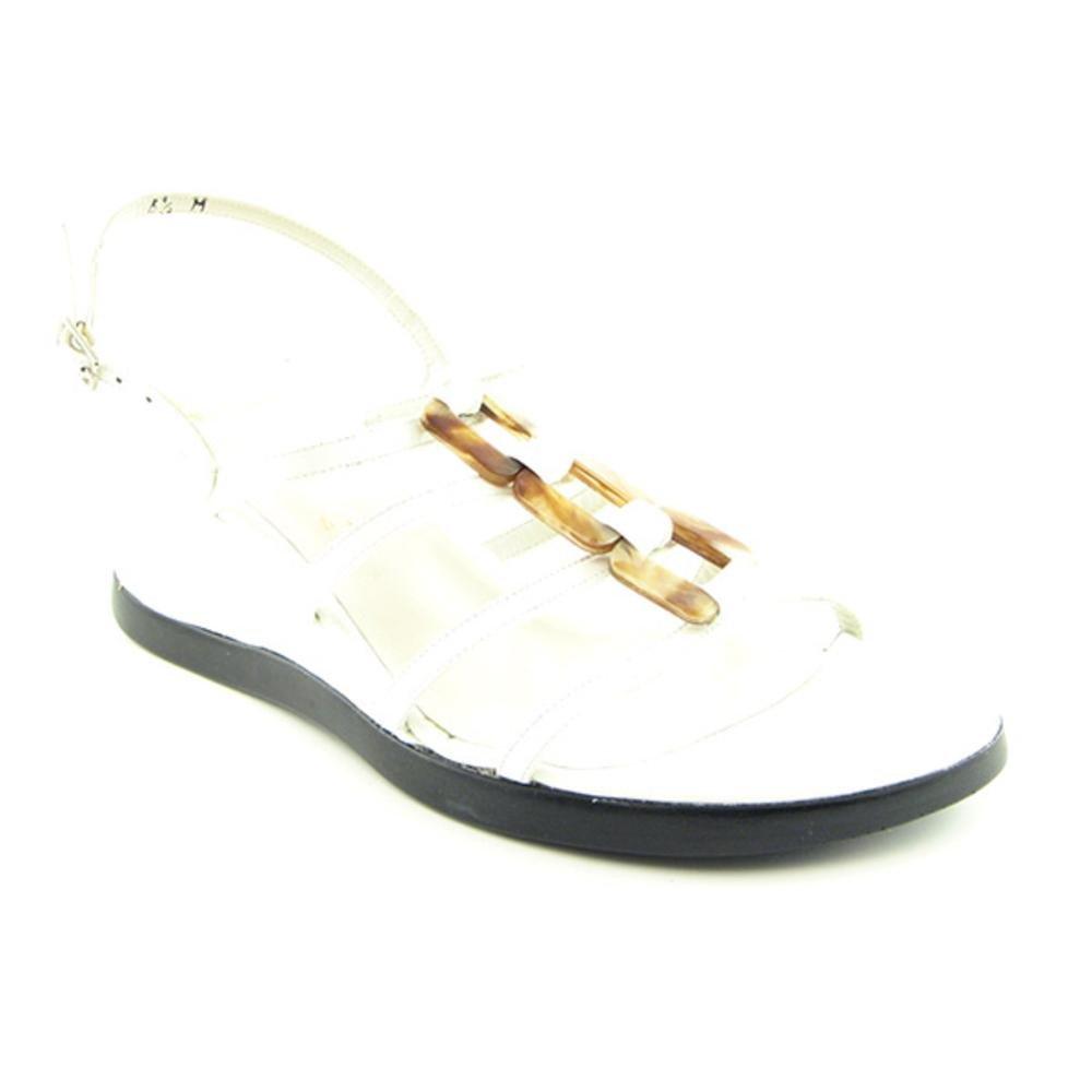 Stuart Weitzman Women's Mariner Wedge Sandal B001EO5U4C 8.5 B(M) US|White Soft Patent