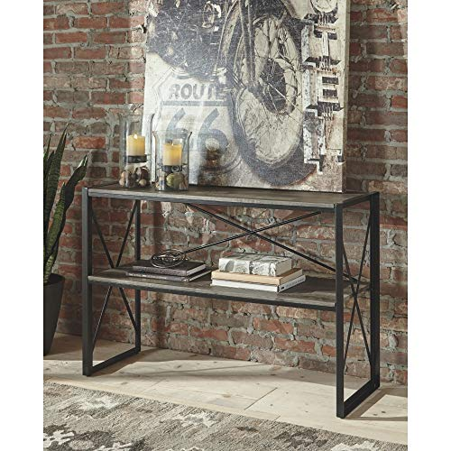 Signature Design by Ashley - Harzoni Wooden Console Table, Grayish Brown