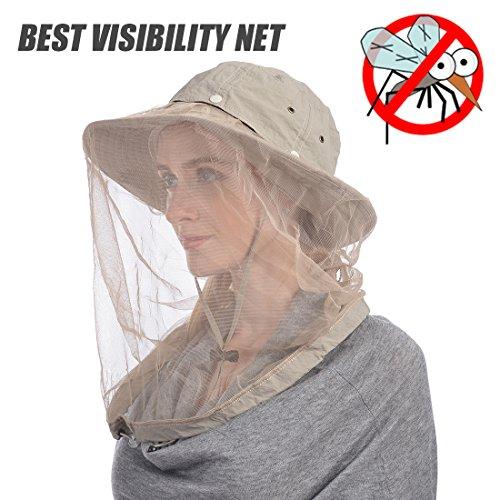 fd3d42fb44a690 UShake Mosquito Head Net Hat, Safari Hat Sun Hat Bucket Hat - Import It All