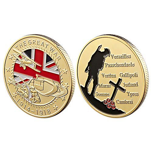World War I Military Challenge coin WWI Great War 100th Anniversary Soldier Veteran Commemorative Gift