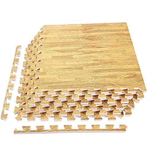 [Upgrade] 6 Tiles Foam Mats, Superjare Extra Thick (9/16
