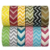 Allydrew Chevrons Washi Tapes Decorative Masking Tapes (ADSET16), Set of 12