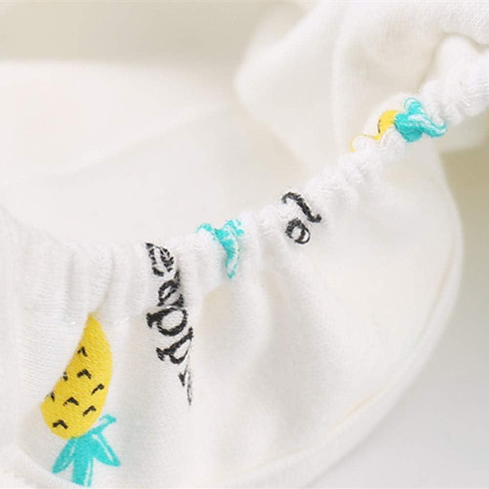 Windelhose Baby Anti-Seiten-Leckage Windel Hose Baumwolle wasserdicht Neugeborenen atmungsaktive Stoffwindeln Pineapple 80# EDTara Geburtstagsgeschenk
