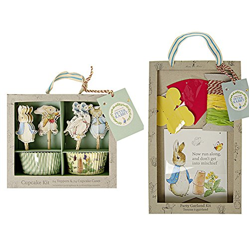 Meri Meri Peter Rabbit Party Pack (Garland & Cupcake Kit)