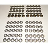 Stainless Steel Snap Fastener's, 50 Piece, Cap and Socket Only, Marine Grade