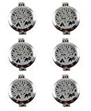 JJG 6Pcs Silver Round Tree of Life Aromatherapy Essential Oil Lockets Pendants for Jewelry Necklace Making