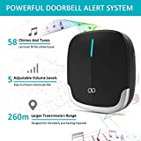 Wireless Doorbell Chime Kit Waterproof Doorbells Easy To Intall With 1 Push Button And 1 Receiver Operating At 850ft Range 58 Chimes 3 Years Lifespan
