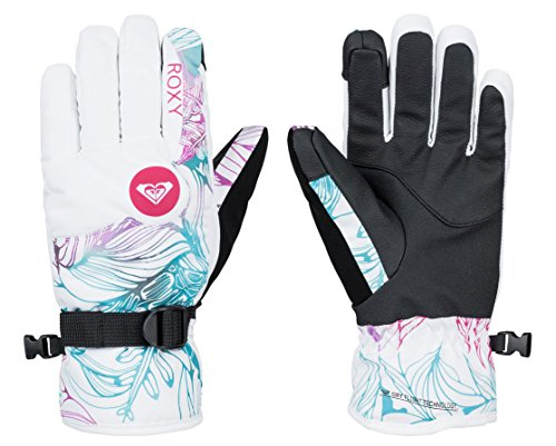 Roxy SNOW Junior's Jetty Printed Snow Gloves, Snow Twist, Small