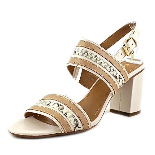 Sandals Princeton Slingback Open Leather Womens Chalk Snake Toe Coach Chalk Casual Z5F0Rqnw