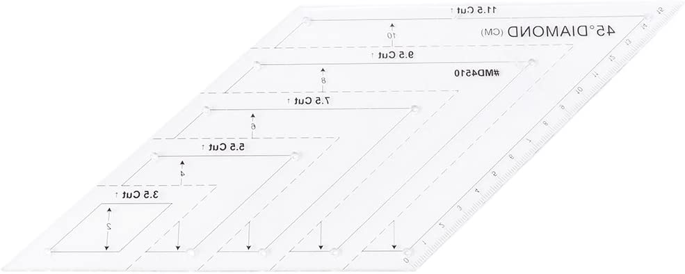 45 Degree DIY Patchwork for Diamond Rhombus Template Quilting Ruler Sewing Tool Rulers,QINYUAN