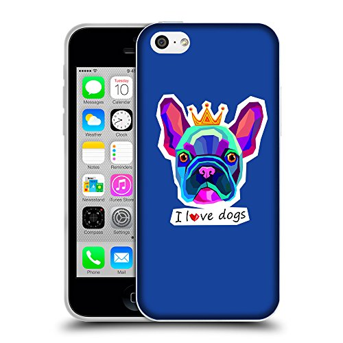 GoGoMobile Coque de Protection TPU Silicone Case pour // Q05070613 Couronne bulldog Bleu // Apple iPhone 5C