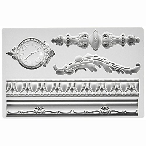Iron Orchid Designs Vintage Art Decor Mould Baroque,Sugarcraft Silicone Fondant Mould for Cake Decorating Cupcake Topper, Sculpting Silicone Sugar Resin Craft DIY Moulds Gum Paste Cake by Vivin