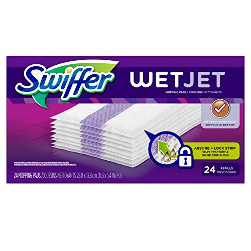 Fire Saucer (Swiffer WetJet Spray Mop Floor Cleaner Pad Refills, 24-Count (Pack of 2) (Packaging May Vary) by Swiffer)