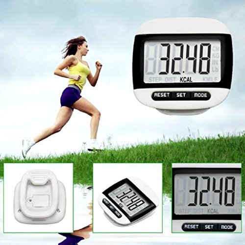 LUNIWEI LCD Digital Pedometer Belt Clip Walking Calorie Distance Counter