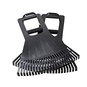 Leaf Claws Grabber Scoop Hand Rakes with Leverage Extension Grip - Back Saving Ergonomic Gardening Tool for Lawn and Leaves Clean-up - Made in USA - Model P755